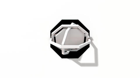 Gyroscopic ring elements rotating Octogon with alpha Videos animados