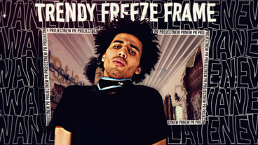 Trendy Freeze Frame After Effects Template