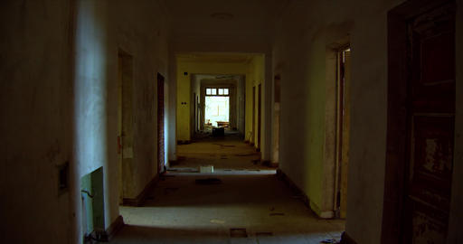 Long corridor in a paranormal house Live Action
