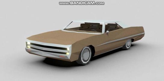 1970 chrysler 300 3D Model
