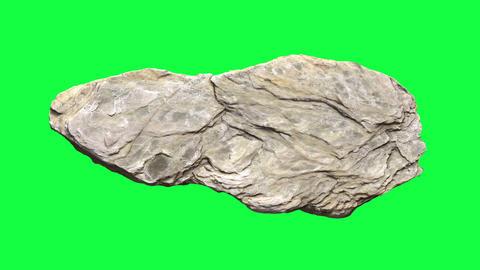 Rotating stone on green screen - animation Animation
