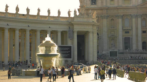 Saint peter basilica exterior religious building with statues Live Action