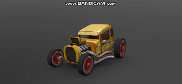 HCR2 Hot Rod 3D Model