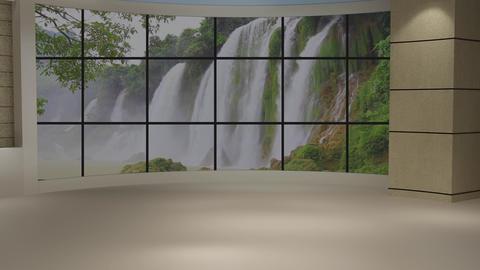 News TV Studio Set 235- Virtual Background Loop Footage