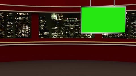 News TV Studio Set 237- Virtual Background Loop Footage