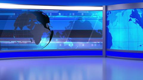 News TV Studio Set 238- Virtual Background Loop Footage