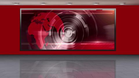 News TV Studio Set 240- Virtual Background Loop Live Action