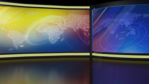 News TV Studio Set 239- Virtual Background Loop Footage