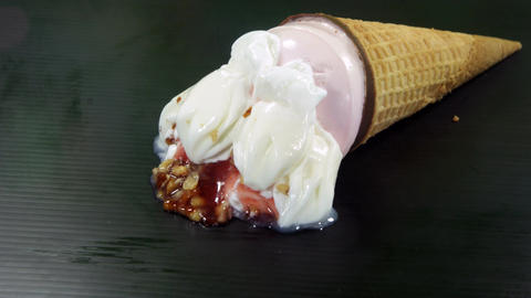 Ice cream melting Footage