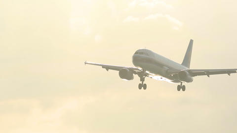 Airbus 320 approaching Live Action