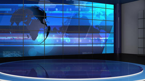 News TV Studio Set 245- Virtual Background Loop Live Action