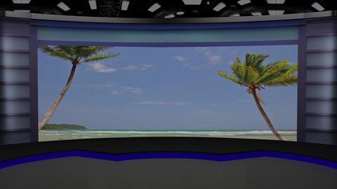 News TV Studio Set 223- Virtual Background Loop Footage