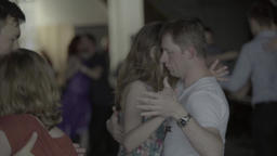The guy and the girl dance . Slow motion Footage