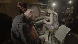 The musicians play in the evening Footage