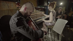 A group of musicians playing music Footage