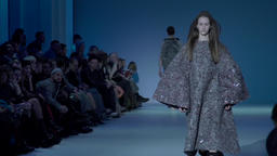 Model shows clothes at the fashion show. Slow motion Footage