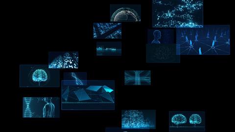 Digital Network Technology AI 5G data communication concepts background F Rotate2 B Sozai Animation