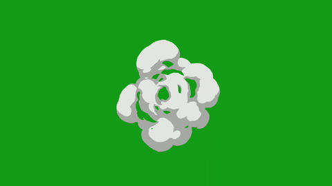 Radial smoke motion graphics with green screen background Animation