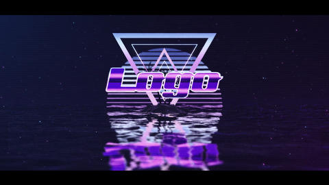 Retro water logo After Effects Template