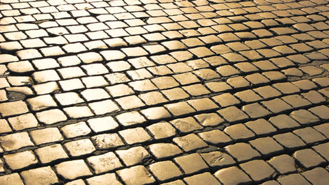 Paving stones texture square stones and sunlight Live Action