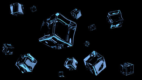 Variety of water and fluid forms. 3D rendering Animation