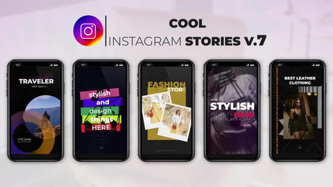 Cool Instagram Stories v 7 After Effects Template