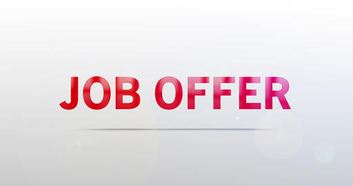 Job offer. Particle Logo. Text Animation Animation