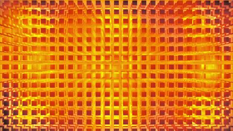 Broadcast Pulsating Hi-Tech Cubes Grid Matrix, Gold, Technology, 3D, Loopable, 4K Animation