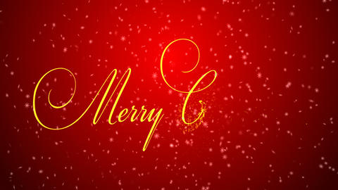 Merry Christmas lettering Animation