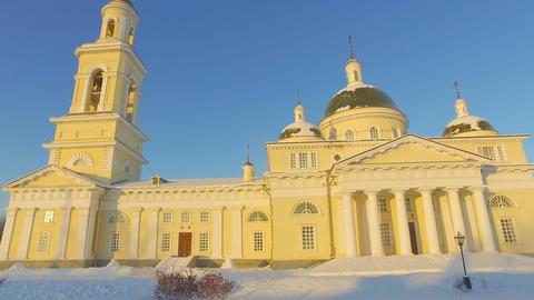 Spaso-Preobrazhensky Cathedral Nevyansk. Russia Footage