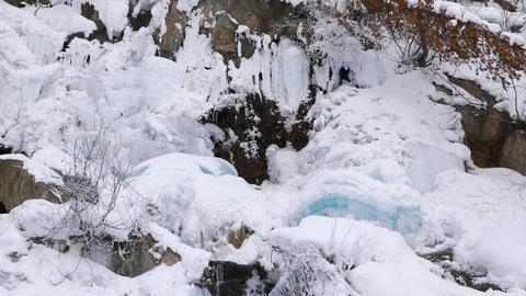 Waterfall ice Footage