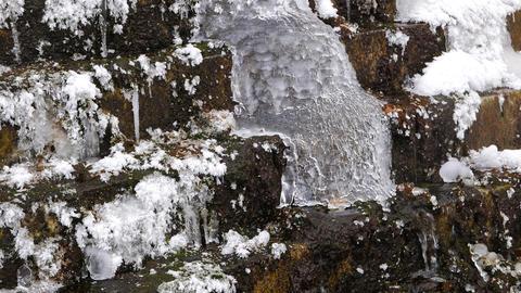 Frozen waterfall Footage