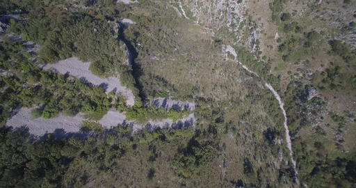 Aerial, Train Bridge Over Mala Rijeka, Montenegro - Native Material Footage