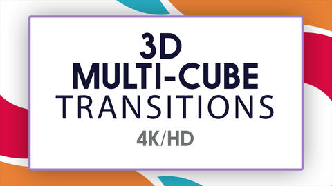 3D Multi-Cube Transitions 애플 모션 템플릿