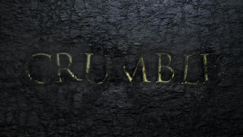 Crumbling Wall Titles Motion Graphics Template