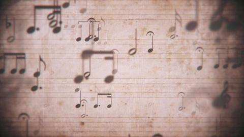 Vintage Sheet Music Notation Manuscript Background 애니메이션