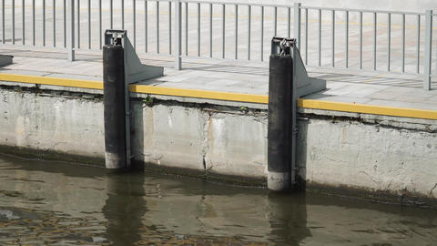View of the pier from the pleasure boat Live Action