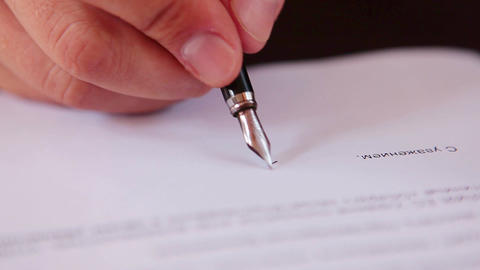 Director signs the contract registration of the transaction Live Action
