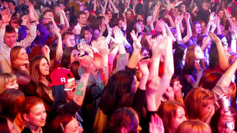 Fans ecstatic with music night club night life Live Action