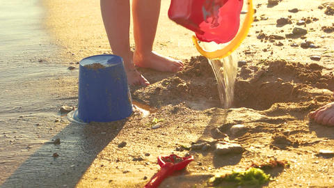 Kids playing on the seashore child stomping mud how to ruin everything Live Action