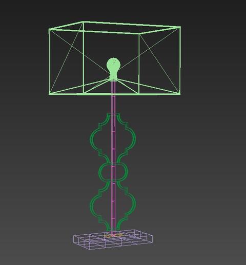 Table-lamp-Arabesque 3D Model