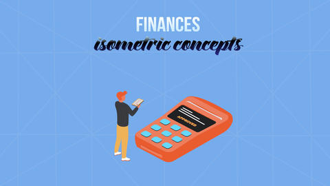 Finances - Isometric Concept After Effects Template