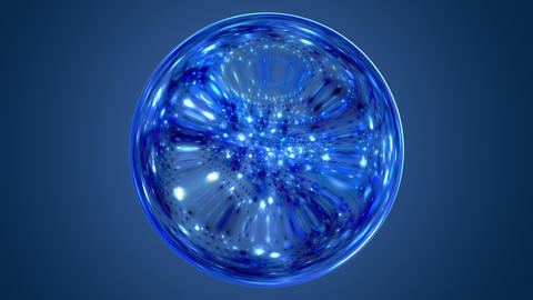 Fantastic video animation with glowing light sphere in motion, loop HD Animation