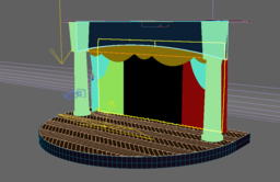 THEATER SCENE WITH RED CURTAINS 3D Model