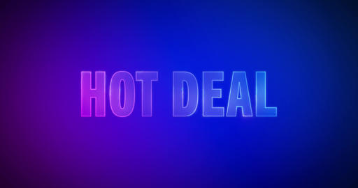 Hot deal. Electricity Logo Animation