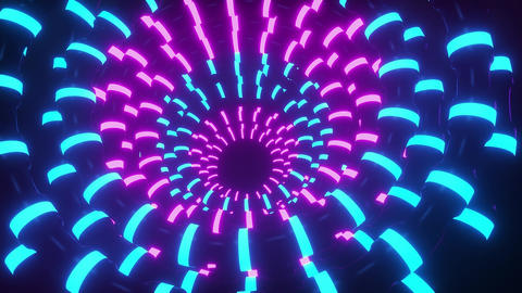 3D Abstract Neon Tubes VJ Loop Motion Graphic Background CG動画