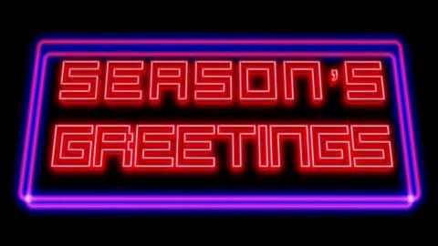 Season's Greetings original - Neon Signage Stock Video Footage