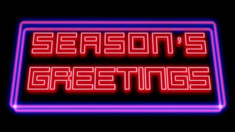 Season's Greetings original - Neon Signage Animation