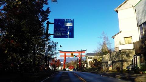 Tourist spots in Japan. Near the lake Chuzenji. Tateki Kannon entrance Footage