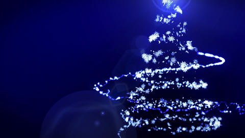 Christmas Illumination,Christmas tree,Blue,Loop Animation